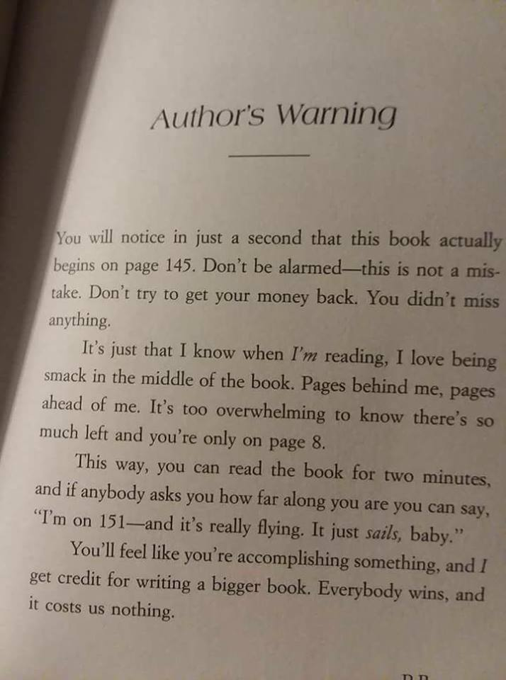 Author's warning